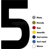 de Rugby VARIOS Número Camisa en Vinilo Espalda CIF.CAMISA